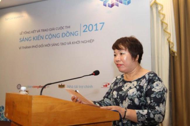 Bà Lương Thị Bích Ngọc - Tổng biên tập Tạp chí Khám phá, Trưởng ban Tổ chức cuộc thi.