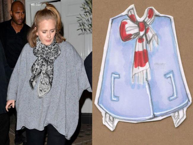 Kiểu 2 - Cùng thử thắt kiểu nơ lệch giống cô nàng Adele nhé.