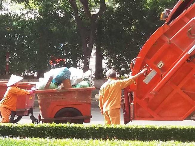 Hoạt động gom rác tại TP.HCM. (Ảnh minh họa).