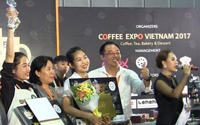 Chung kết cuộc thi Việt Nam Super Barista 201, một hoạt động diễn ra tại Triển lãm năm ngoái.