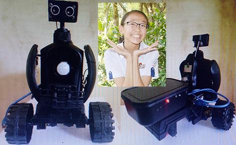 Em Nguyễn Thị Kim Loan và sản phẩm Robot DL.