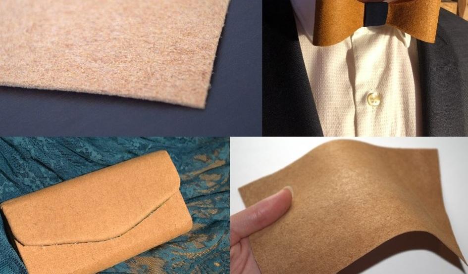 Một vài thiết kế thời trang làm từ vật liệu giả da của Start-up Gelatex.