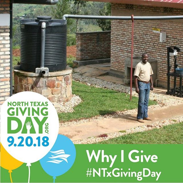 Why do we #give? Because clean #water CHANGES LIVES. Will you help change a life on @ntxgivingday? #NTGD2018 #WaterMatters