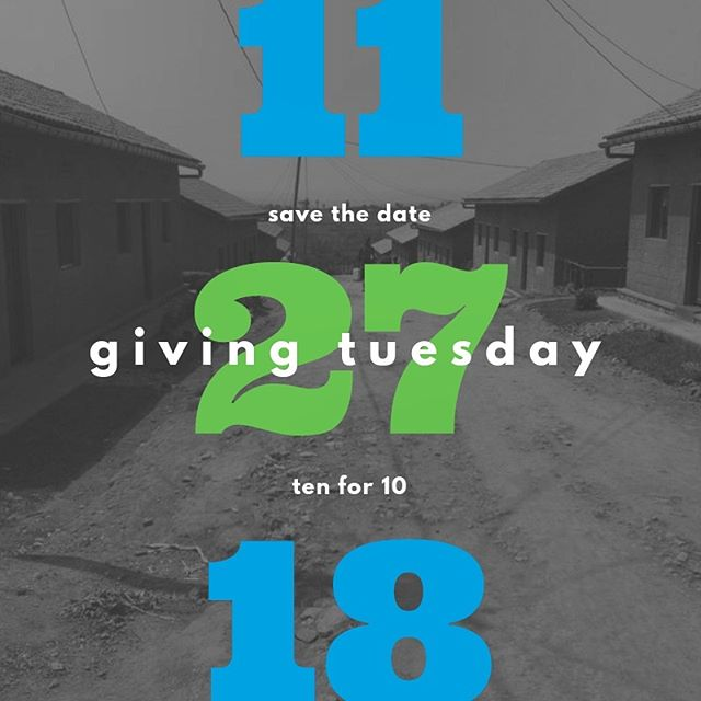 Tomorrow is #GivingTuesday! Will you be joining us on this GLOBAL day of #Giving all powered by #SocialMedia? Hope to see you online! #WaterMatters