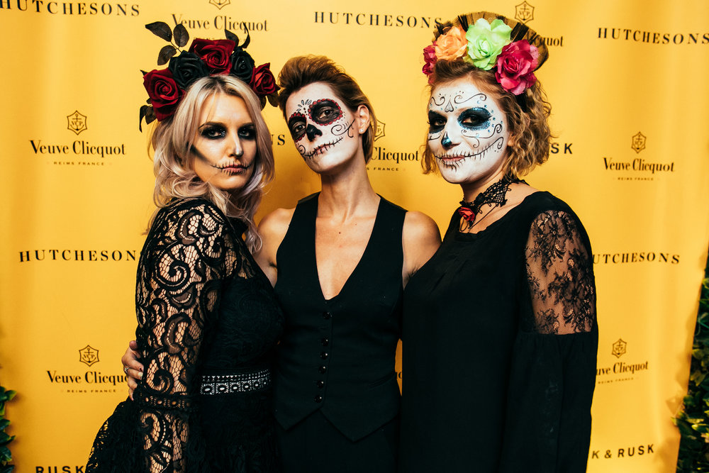 rusk & rusk teamed up with veuve clicquot to create the most glaorously dark halloween event in the uk. The 2016 edition of the party was featured by MArie Claire as 'one of the best halloween events of the season', whilst the 2017 event received rave reviews.