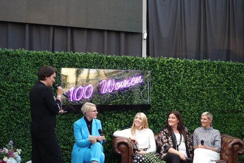 Louise Rusk with the rest of her panel and host Susie Cormack Bruce