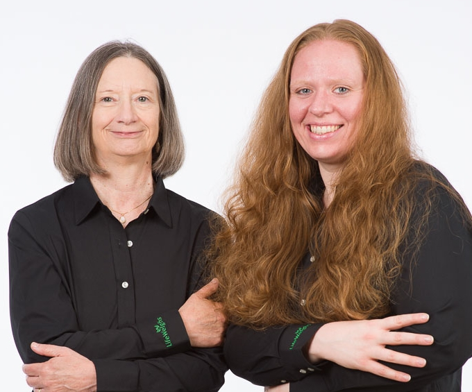 Cathy Olson and Lynde Priest