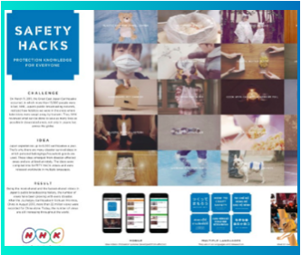 SAFETY HACKS | NHK |TBWA\HakuhodoDESIGN | Social Engagement -