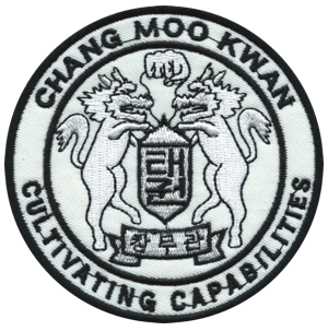The CMK San Pedro Patch with Grandmaster Nam Suk Lee's Motto