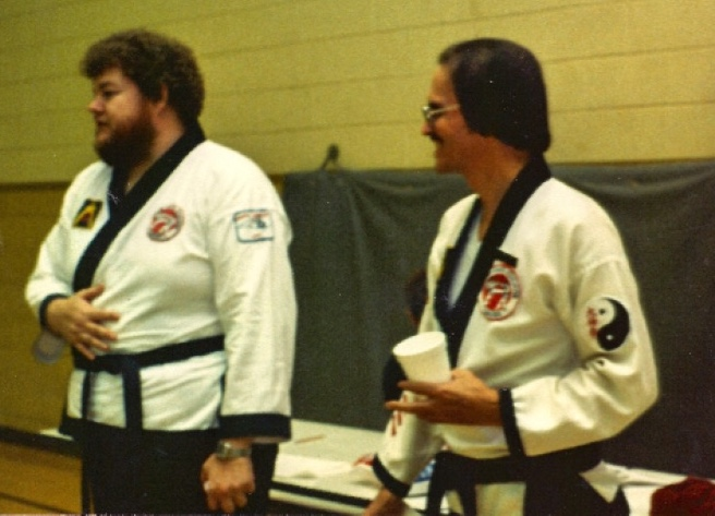 Gary Godbey, CKA Chairman (left) and Jerry Cope, CKA President (right)—Former Chang Moo Kwan Students of Chun Duk Ki