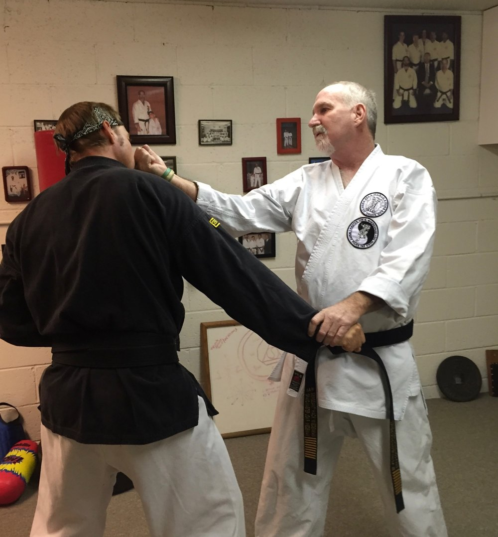 Jon Wiedenman & Jesse Boyd train in the Wiedenman dojo in San Pedro, CA (2015)