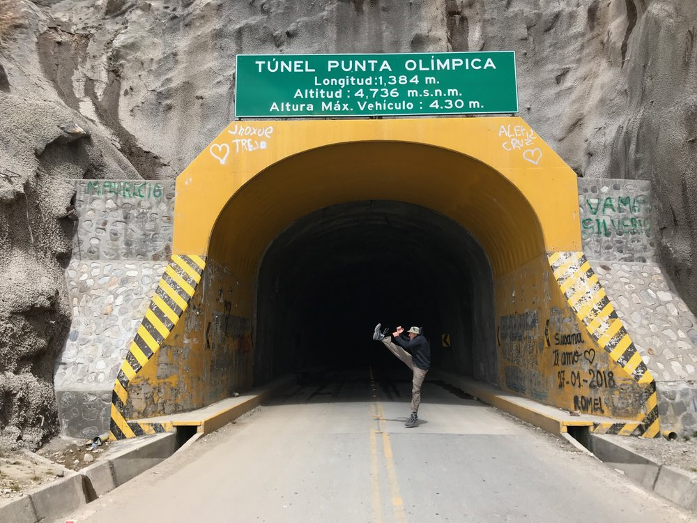 World's Highest Tunnel, Peru (15,538 ft.)