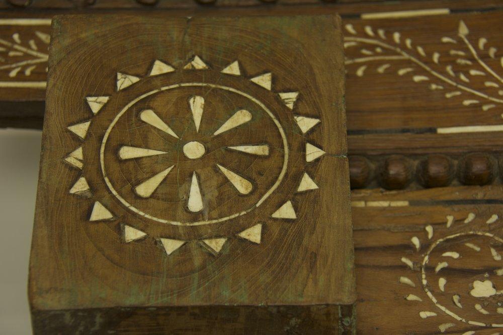 Fine Inlay of Bone and Horn Door