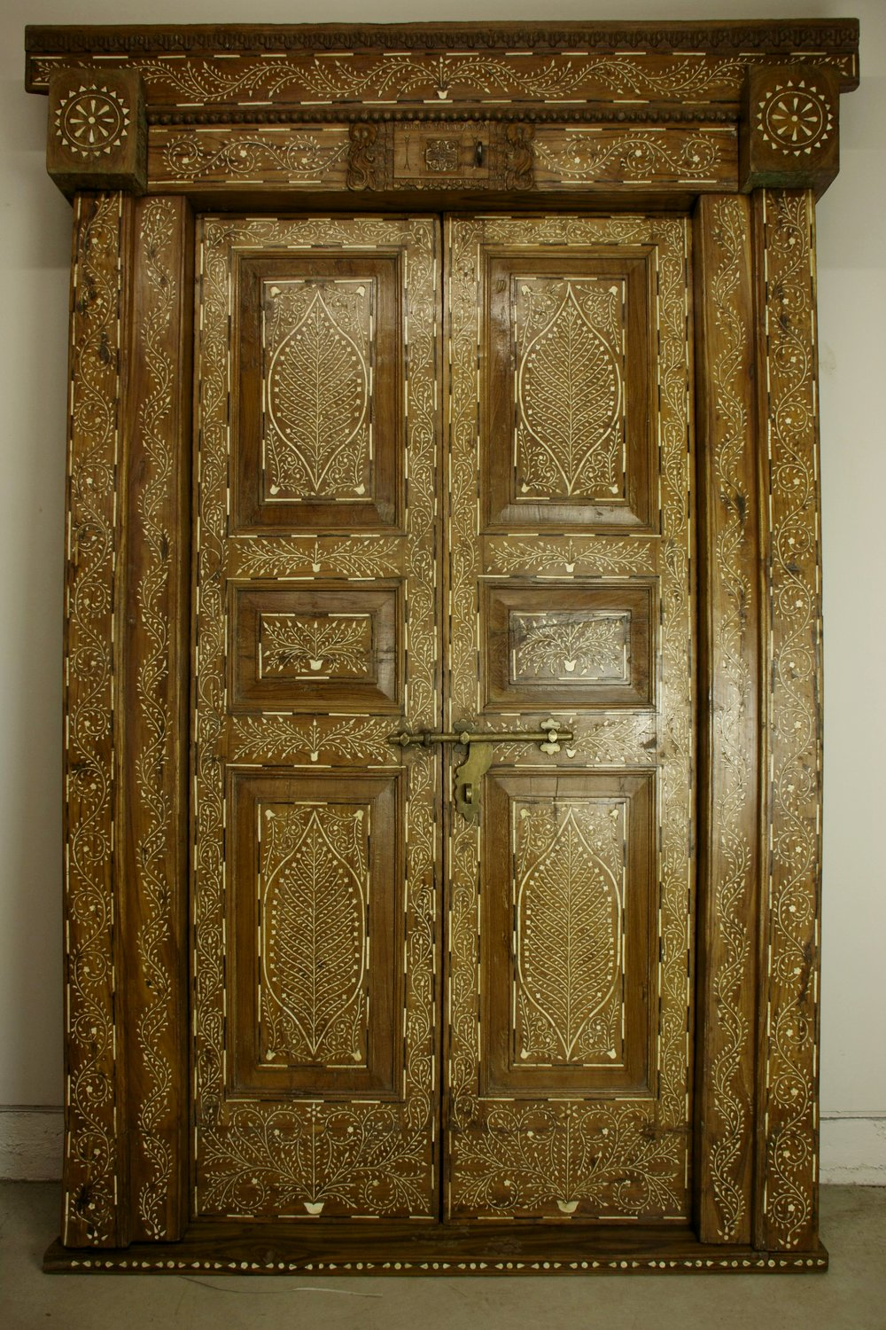 Fine Inlay of Bone and Horn Door
