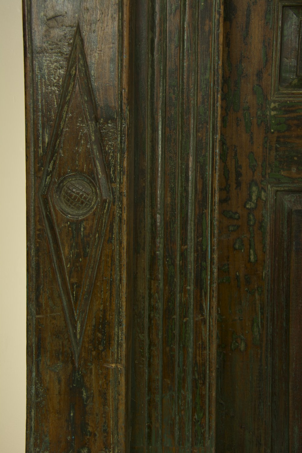 Columns and Floral Frame Door