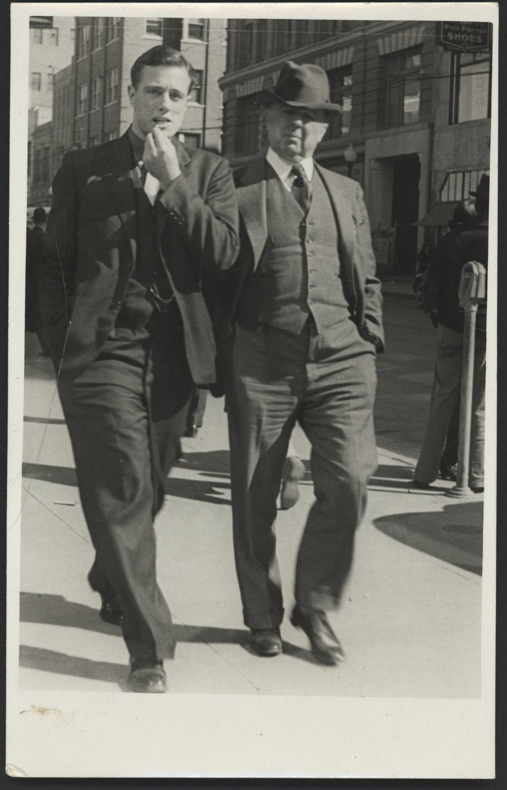 Johns Jr. and Sr. in Manhattan, 1932