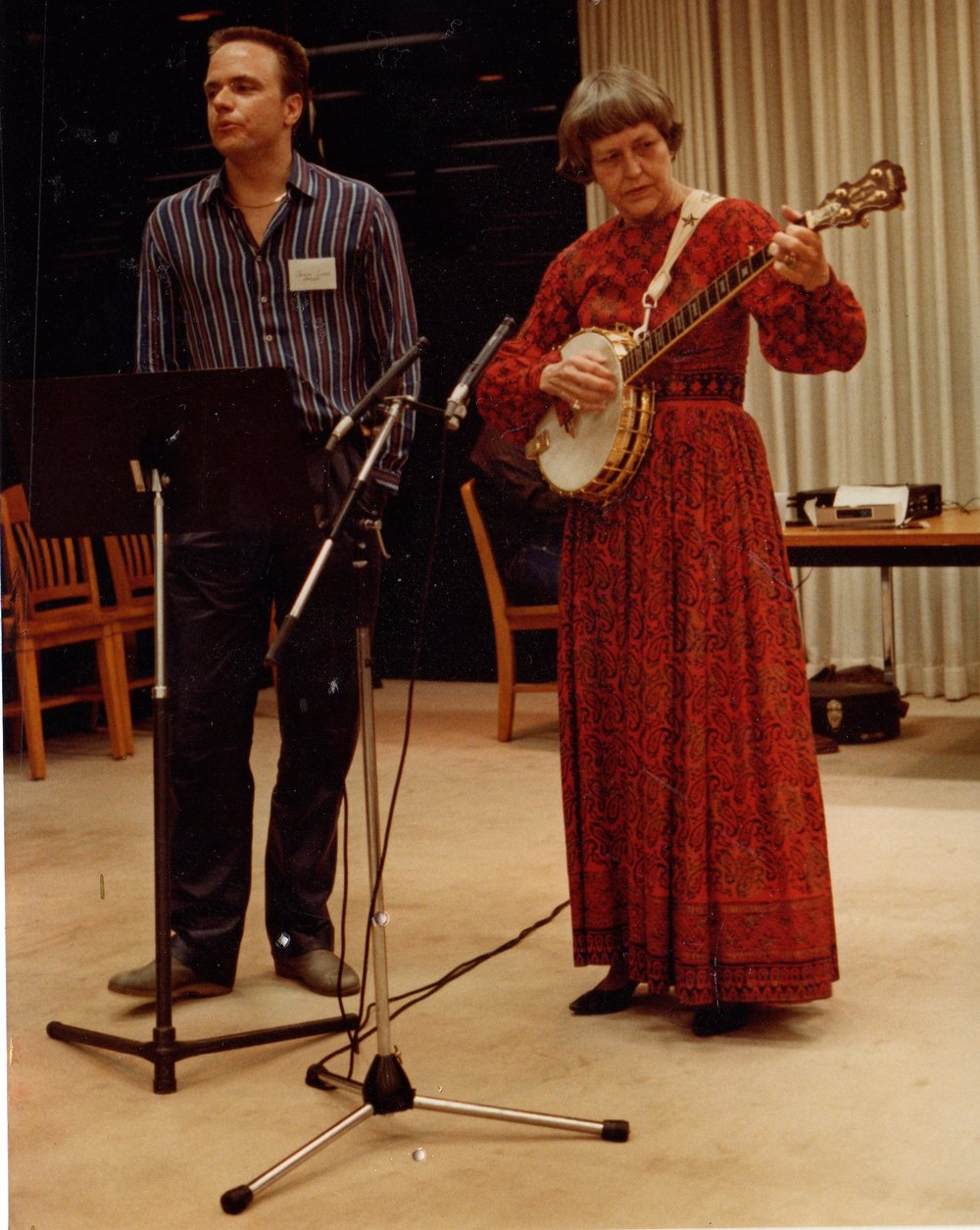 Joseph Franklin Lomax and Hally Wood in performance, Austin, Texas, 1982