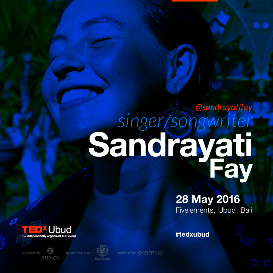 Sandrayati Fay is a singer and songwriter with Filipino/Irish-American roots, born and raised on the islands of Java and Bali, Indonesia. Her songs are an expression of inspiration and perceptions that reflect her journeys and beliefs in the world revolving around nature, human rights, identity and love. She is now based in Bali, after spending 3 years studying theatre and music in the United States as well as traveling, playing at music festivals and women's retreats. She is now studying at Bali's 'One Dollar for Music' foundation as well as working with her parents organization 'Samdhana' which focuses on environmental and indigenous peoples rights throughout Southeast Asia.