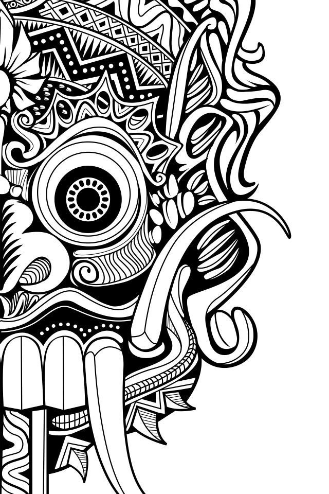 A piece of the beautiful design from Lapantigatiga that will be on the official TEDxUbud tshirts this year.
