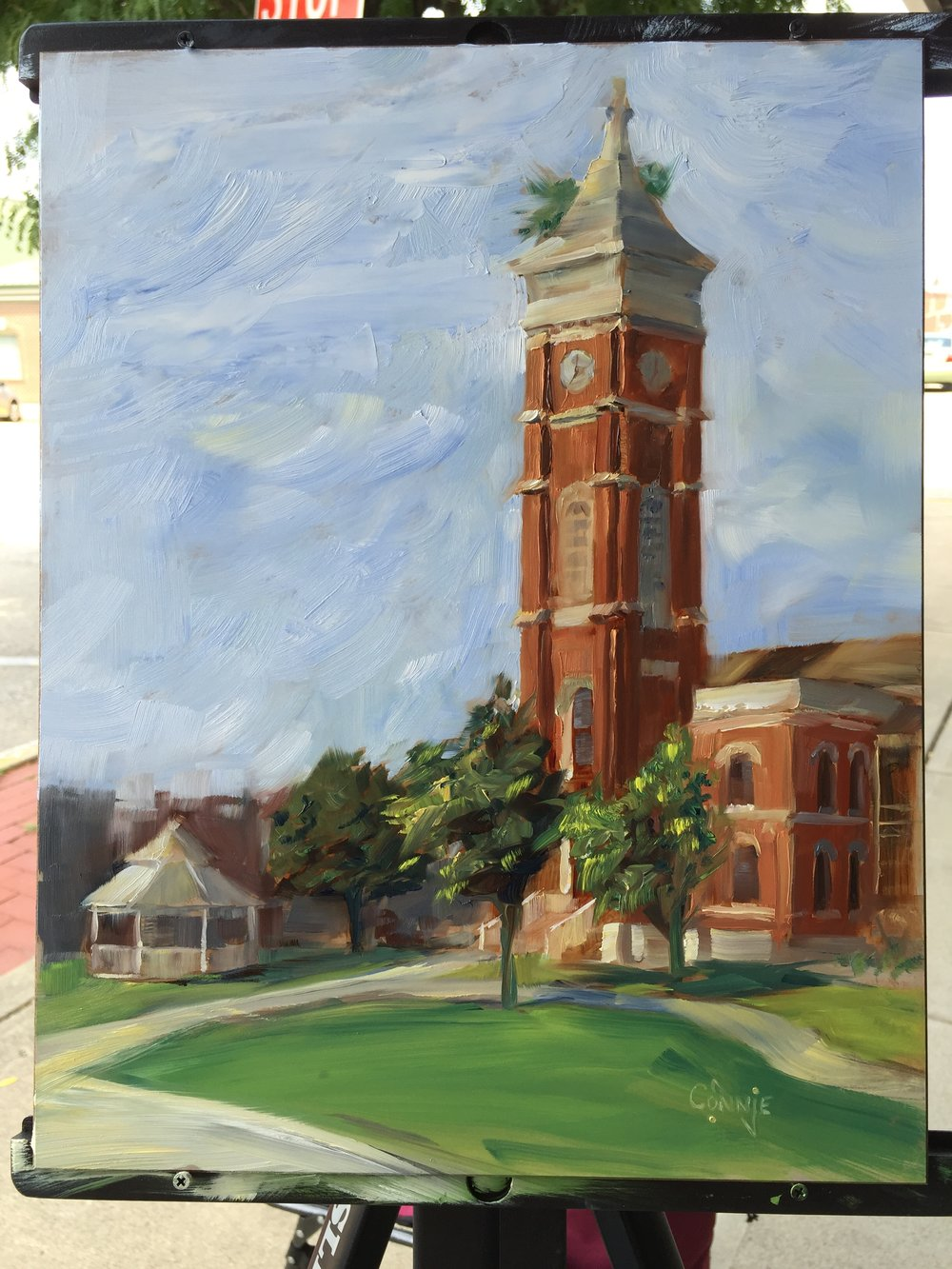 greensburg courthouse - 13 x 9Oil