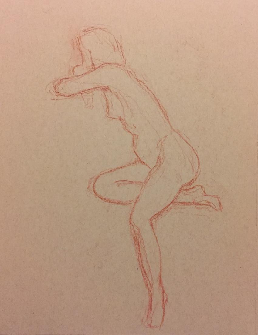 gesture sketch - Pastel Pencil