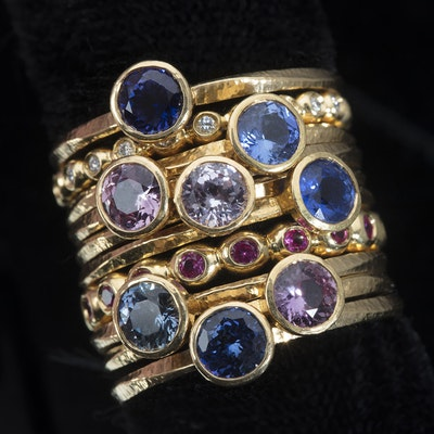 Star Tribune Magazine - Summer 2018 - Diamonds may be a girl's best friend, but today's brides are looking for something unique and personal. To do that, a growing number are turning to colored gemstone engagement rings. The most popular? Sapphires.