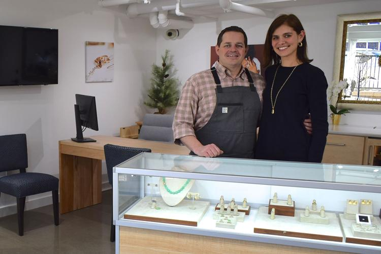 Wayzata Sun Sailor - January 2019 - A new jewelry studio is open in Wayzata.Patrick Mohs Jewelry, the collaboration of husband and wife artists Patrick Nelson and Mary Kay Mohs, celebrated its grand opening Dec. 12 at 240 Minnetonka Ave. S. #102.