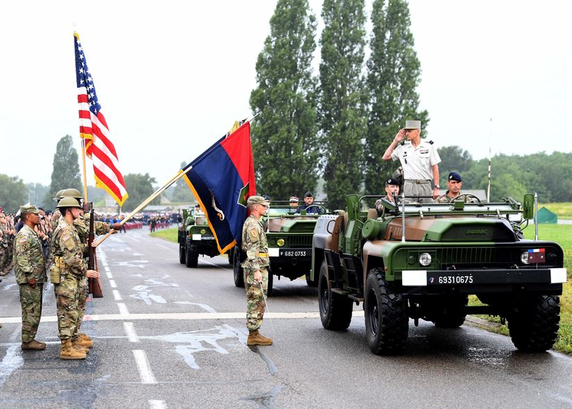 US military participating in Bastille Day 2017