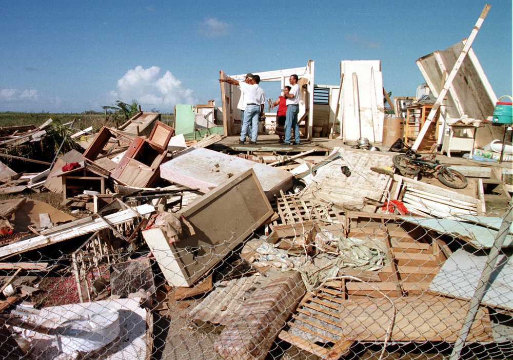Puerto Rico damange after Hurricane Georges in 1998