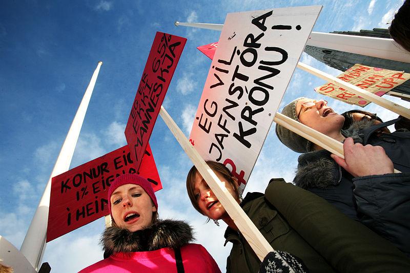 Gender equality protest in Reykjavik in 2005