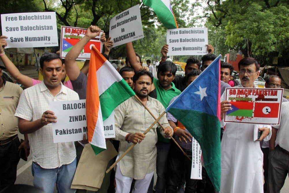 Pro-Balochistan rally inNew Delhi, India
