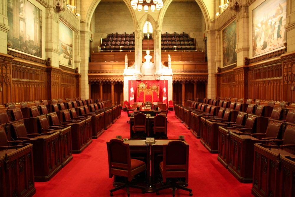 The Canadian Senate during a parliamentary break.
