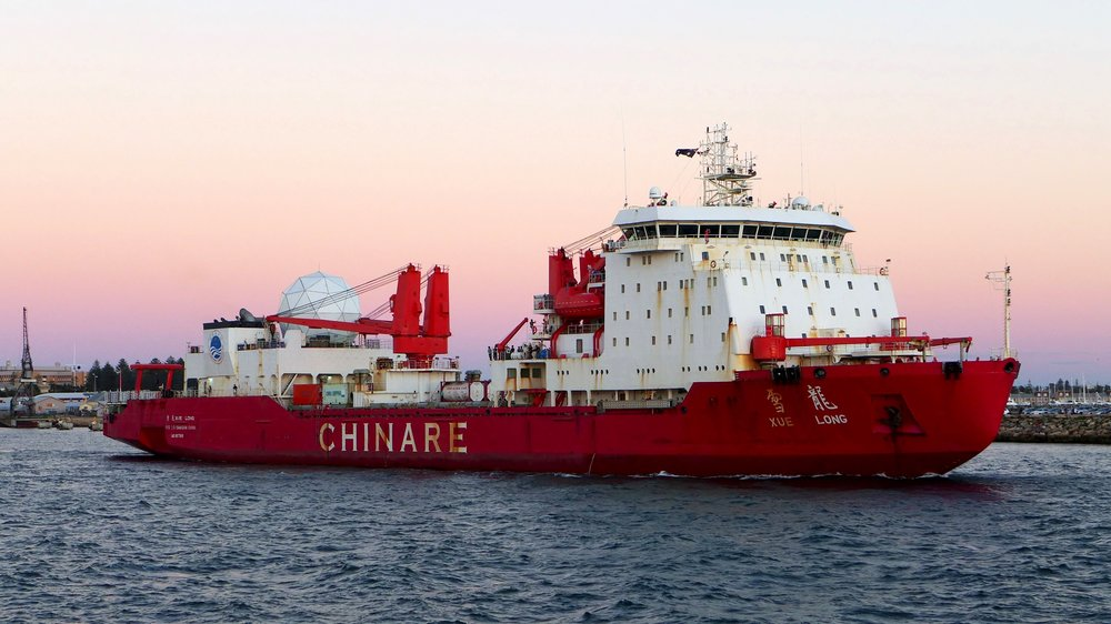 Chinese Icebreaker MV Xue Long, used for research in the Arctic Ocean.