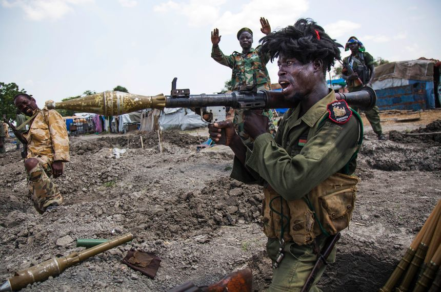Sudan People Liberation Army (SPLA) in Lelo, outside Malakal, northern South Sudan, on October 16, 2016.