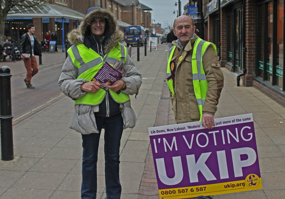 UKIP supporters before the 2015 British general election.