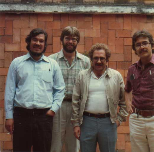Rafael Alarcón, Douglas Massey, Jorge Durand, and Humberto Gonzalez, the original members of the Mexican Migration Project in 1982 .