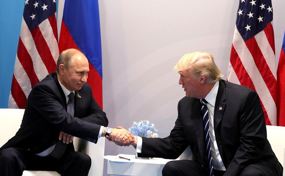 Russian President Vladimir Putin meeting with U.S. President Donald Trump.