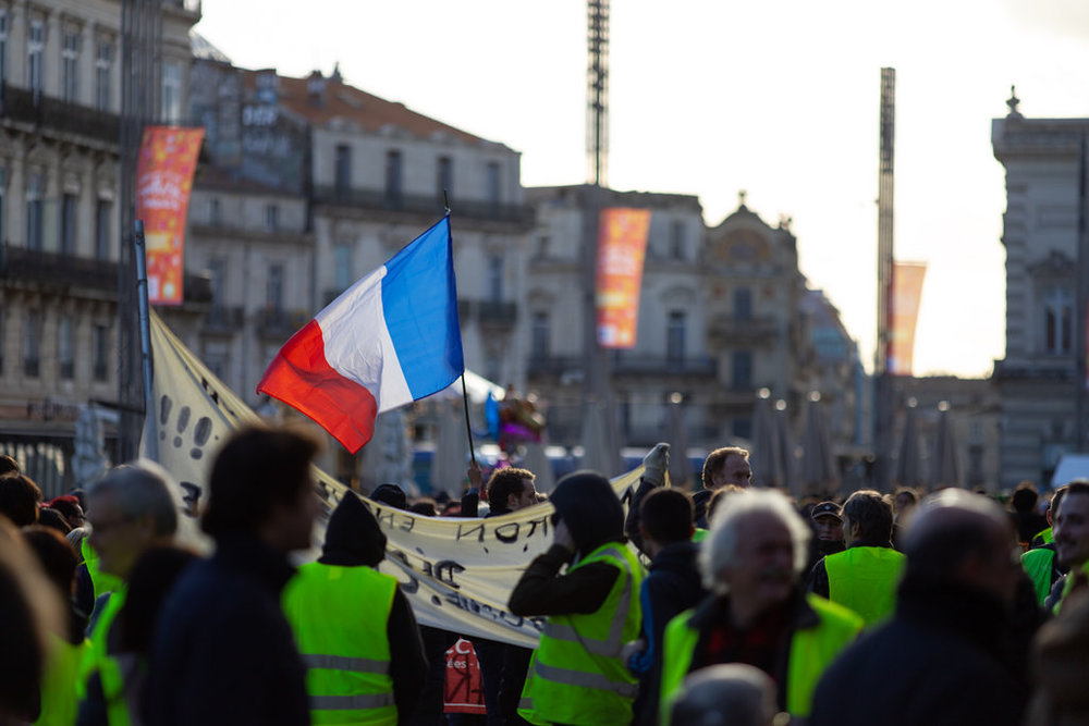 Yellow Vest Protesters in Montpellier, France