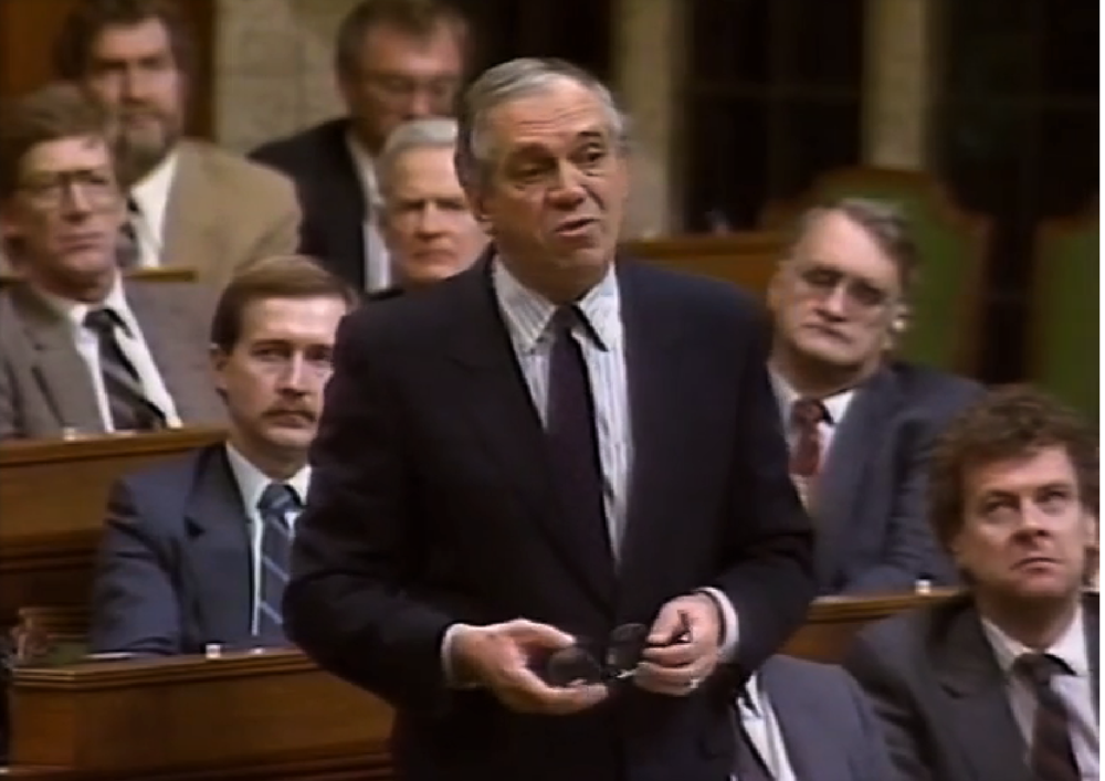 Ed Broadbent addressing the House of Commons on November 24th, 1989
