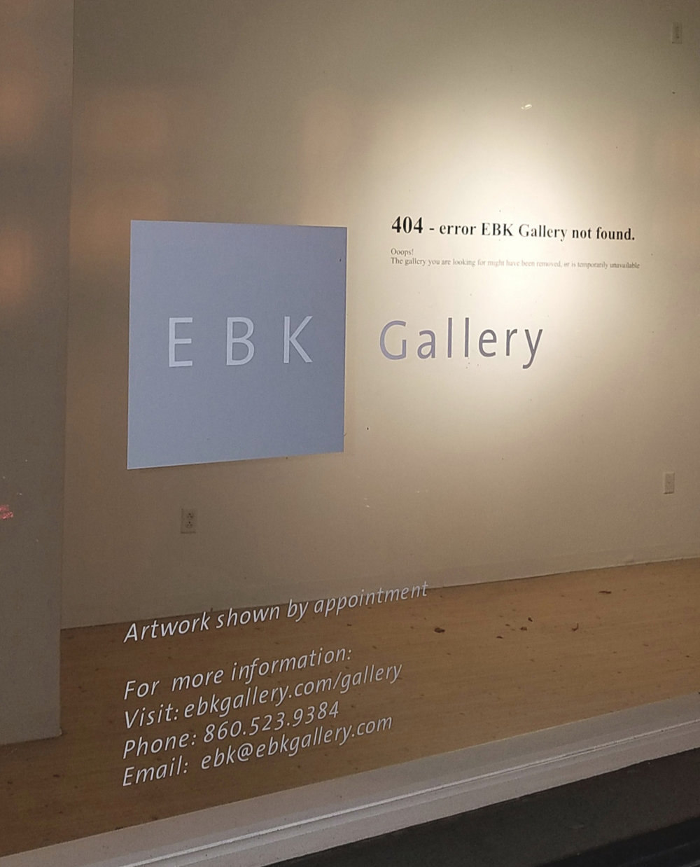 "Erik Ben-Kiki, ""404 error gallery not found"", vinyl on wall, 2019"