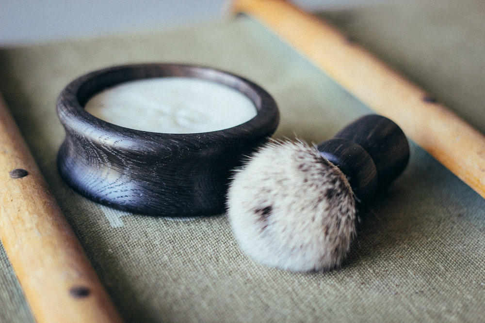 Ancient Shaving Set by Thomas Clipper - luxury handmade shaving bowl, soap and brush set