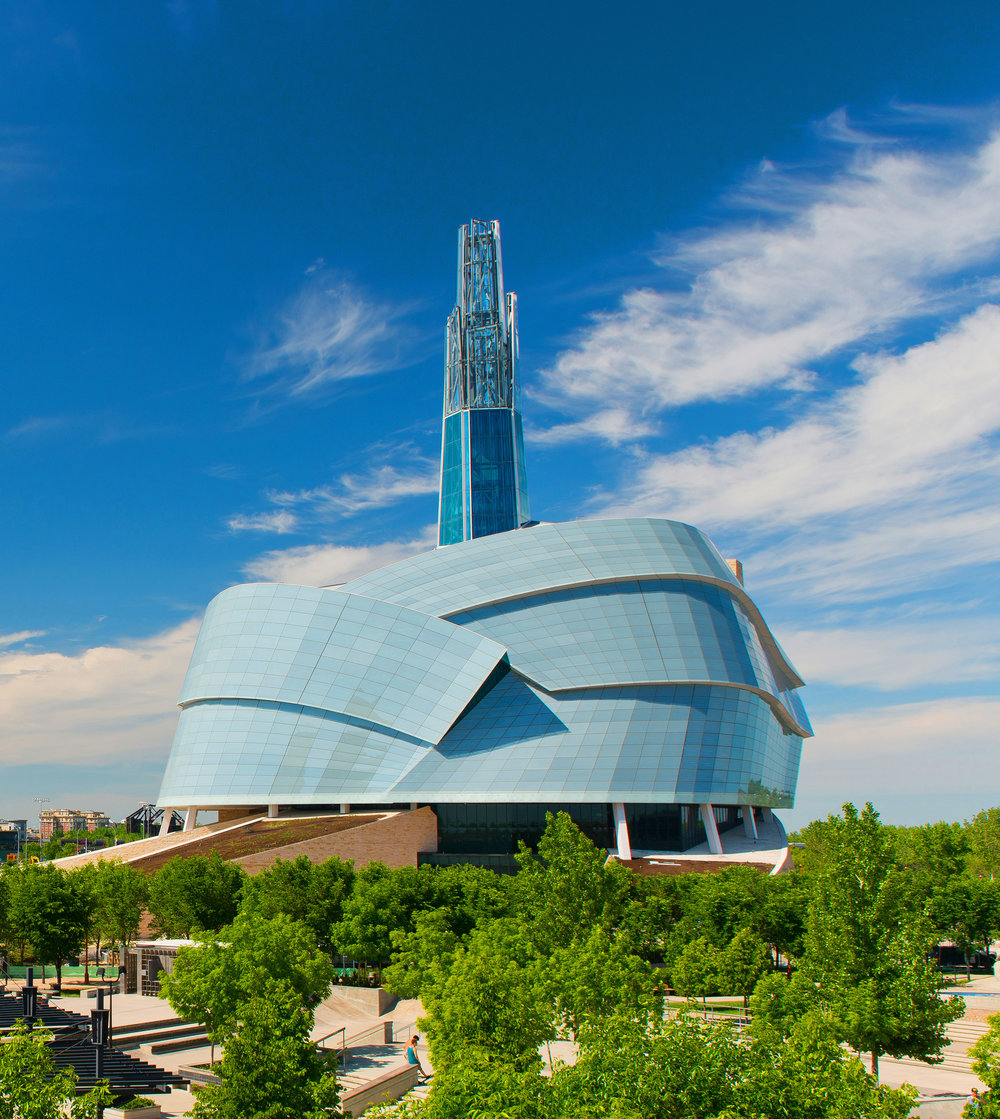 Canadian Museum for Human Rights located at The Forks in Winnipeg