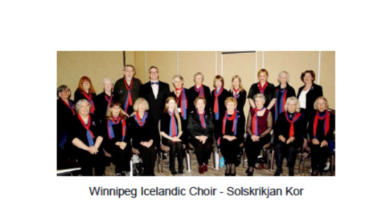 The Choir will be singing ALL Three National Anthems on Saturday night, Thank You for joining us at the Governor's Banquet with our Keynote Speaker from Iceland.