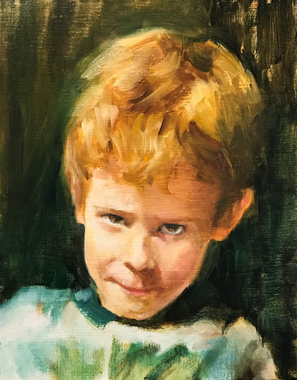 """The Turner Look"" (Oil), Margret Thomas"