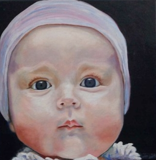 """Miss Olivia"" (Oil), Patricia Tierney-Moses"