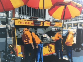 """Street Food"" (Watercolor), Kathy Simon-McDonald"