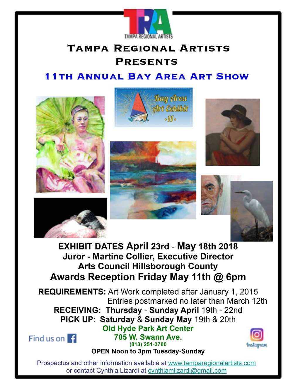 Call to Artists: Bay Area 11 Art Show 2018 — Tampa Regional Artists