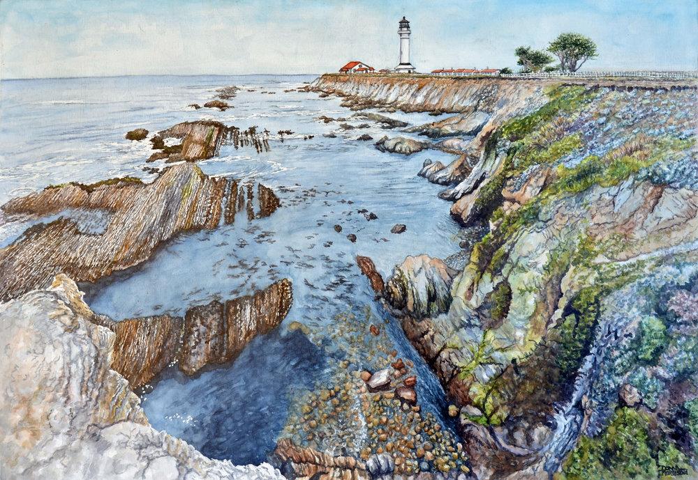 """Donna Morrison """"Northern California Coast"""" Watercolor"""