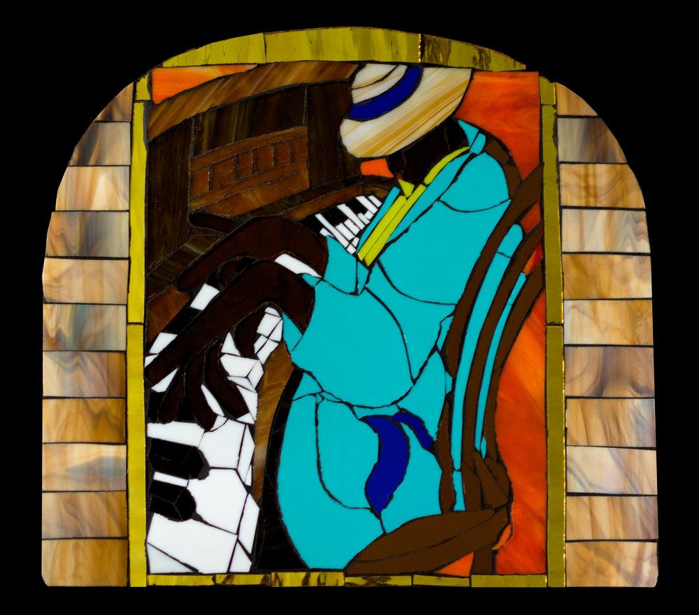 """Maria Haynes """"Keys"""" Glass Mosaic"""