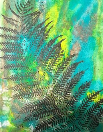 "Judy Pence Milsaps ""Nature Print"" Mixed Media Print"